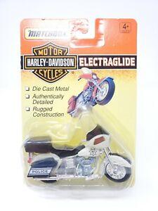 MATCHBOX MOTORCYCLES M.B.PD POLICE BIKE HARLEY-DAVIDSON ELECTRAGLIDE BLACK/WHITE