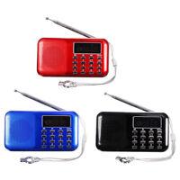 Mini Portable LED Digital FM Radio Speaker USB Micro SD TF Card MP3 Music Pla FP