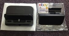 Genuine Nintendo Wii U Black Cradle & Stand Set Gamepad Charger Dock WUP-014 016