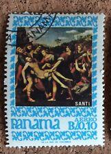 Panama Stamp 1967 Religion Art Santi