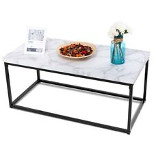 Home Office Rectangular Cocktail Coffee Table Metal Frame Living Room Furniture