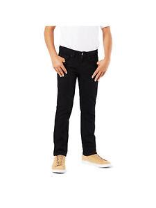New Signature by Levi Strauss Boys Skinny Stretch Slim Black Denim Jeans 6 Reg