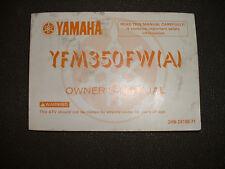 1990 Yamaha  YFM350FWA- Factory Owners Manual