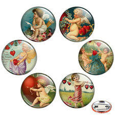 "Cupid 1.25"" Pinback Button BADGE SET #1 Novelty Pins Valentine Love Heart Gift"
