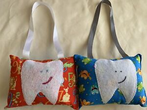 *1 Kids Tooth Fairy Pillow Hanging Frogs Zoo Animals Numbers Blue Red ***Choose*