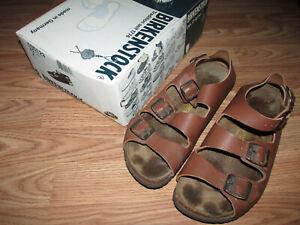 BIRKENSTOCK Oslo Sandals EU 42 Mens 9 Womens 11 Unisex Brown Leather Heel Strap