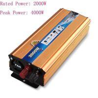 4000W Peak Sine Wave Power Inverter 12V DC/220V AC Stromerzeugung Wechselrichter