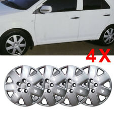 "ALLOY LOOK CAR WHEEL TRIMS/COVERS/SILVER 14"" HUB CAPS ABS PLASTIC 4 x14 INCH"