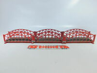BY791-2# 3x Märklin H0/00/AC 467/2 Blech-Brücke (M-Gleis) für 3600/800, 2. Wahl