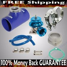 "BLUE ADJ Type RS Blow off Valve+ 2.5""  Silicone Type S Adapter+SS Clamps COMBO"