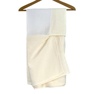 "Queen Dust Ruffle Skirt Cream Waffle 14.5"" Drop Solid Linen Bedding"