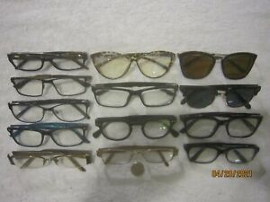 Mix Lot of 13 Burberry-Joe-Bulova-XOXO-Nina Ricci-Shinu-Versace Eyeglasses RETRO
