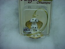 DALMATIAN Dog ANGEL Ornament Resin Figurine HAND PAINTED Christmas Dalmation NEW