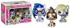 FUNKO POP MY LITTLE PONY EXCLUSIVE 3 PACK DJ PON DR HOOVES DERPY METALLIC