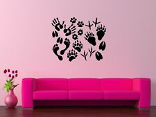Wall Stickers Vinyl Decal Paw Prints Hand Bird Footprints ig166