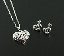Schmuckset Halskette Ohrstecker 925 Sterling Silber pl Schmuck Set Herz ST01