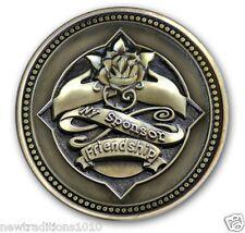 BRZ Sponsor/YELLOW ROSE FriendshipAA/NA/12 Step Program Recovery Coin/Medallion