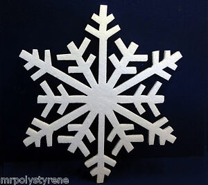 30 POLYSTYRENE SNOWFLAKE IN HD 1 DESIGN 360MM HEIGHT 10MM THICK