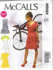 Easy Ruffle Raised Waist Pullover Dress McCalls Sewing Pattern Sz 14 16 18 20 22
