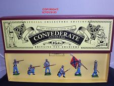 BRITAINS 8851 AMERICAN CIVIL WAR CONFEDERATE INFANTRY METAL TOY SOLDIER SET