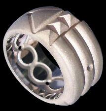 Sterling Silver Atlantis Ring Matte Finish Anillo Atlante Sandblasting All Sizes