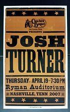 JOSH TURNER Ryman HATCH SHOW PRINT Nashville 2007 Tour Poster CRACKER BARREL
