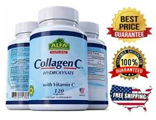 COLLAGEN Colageno ALFA Hydrolysate with Vitamin C  ANTIANGING Colageno 120 tabs