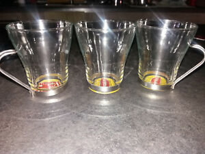 Set stock lotto 3 pezzi calici boccali bicchieri LIPTON ICE TEA TISANA