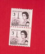 1967  # 466 ** FNH  COIL PAIR CANADA STAMPS  ELIZABETH II CENTENNIAL ISSUE  SP