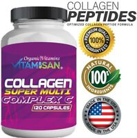 Premium Collagen Peptides 1500 MG Hydrolyzed Anti-Aging (Types I,II,III,V,X) 120