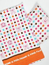 Paul Frank TWIN SET Rainbow Dot Julius Monkey Skurvy Sheets Material Fabric