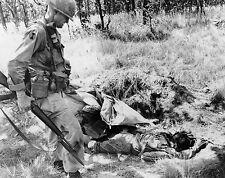 Vietnam War U.S. Army Lt Col Moore laDrang Valley & NVA Dead 1965 8.5x11 Photo