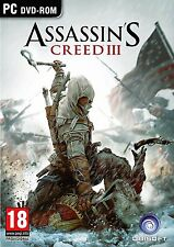 ASSASSIN'S CREED III (3) - PC DVD-ROM PEGI 18-Spedizione Gratuita (UK)
