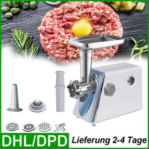 Elektrischer Fleischwolf Wurstfüller Zerkleiner Abnehmbare Wurstmaschine 2800W