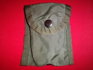 US Military Nylon Green OD Compass Case / Medical Kit Pouch - Made In USA