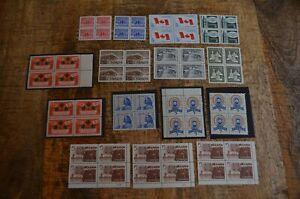 Canada Stamp Blocks 1959-66 Flag Christmas Girl Guides London Charlottetown MNH