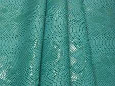 New! Tessuto Ecopelle Tappezzeria Komodo Verde mt. 0.50x1.40-Leather Fabric