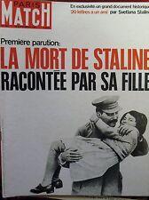 PARIS MATCH N° 0962 MORT STALINE DE GAULLE EN POLOGNE EL CORDOBES CORRIDA 1967
