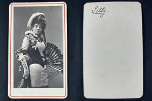 Nadar, Paris, Mademoiselle Silly, comédienne Vintage cdv albumen print.Mademoi