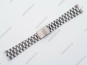 NEW 20MM STAINLESS STEEL CURVED ENDS GENTS WATCH STRAP/BRACELET FOR SEIKO (SE-5)