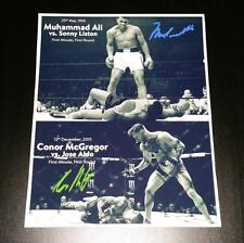 "CONOR MCGREGOR & MUHAMMAD ALI PP SIGNED 10""X8"" PHOTO MMA BOXING REPRO"
