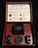 Vintage Bakelite Schick World Traveler Kit Shaver Voltage Adapter in Box c.1950s