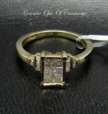 10ct Gold 0.5ct Princess Diamond Dress Ring Size N 2.6g with SGL Certificate