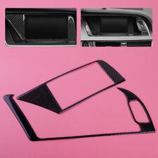 2x Carbon Fiber GPS Navigator Panel Trim Interior Frame For Audi B8 A4 A5 S4 S5