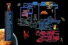 RGC Huge Poster - Super Metroid Map Super Nintendo SNES Samus Aran - EXT132