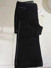M&S BLACK FAUX LEATHER BOOT CUT STRETCH TROUSERS SIZE 14 BNWT PARTY SEASON