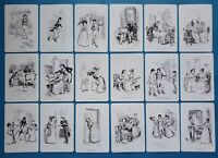 NEW Set of 18 Mini Postcards Illustrations from Sense & Sensibility Jane Austen