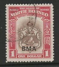 More details for north borneo 1945 bma $1 brown & carmine sg 332 fine used.