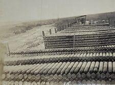 Old Real Photo Postcard 1919 WW1 Era Military Artillery Shell Munitions Depot