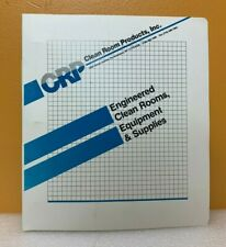 Crp Clean Room Products, Inc Engineered Clean Room, Equipment & Supplies Catalog
